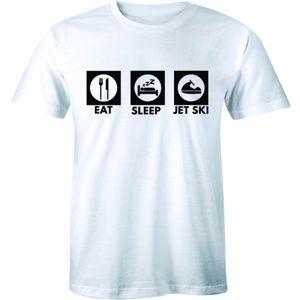 Eat Sleep Jet Ski Funny Slogan Freestyle T-shirt